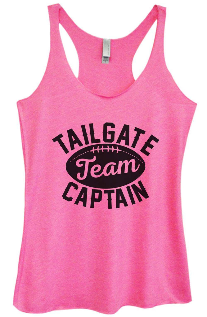 Womens Tri-Blend Tank Top - Tailgate Team Captain Funny Shirt Small / Vintage Pink