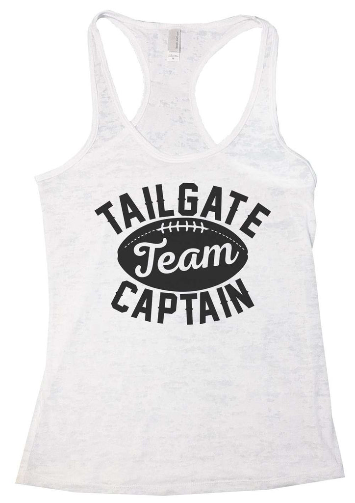 Tailgate Team Captain Womens Burnout Tank Top By Funny Threadz Funny Shirt Small / White