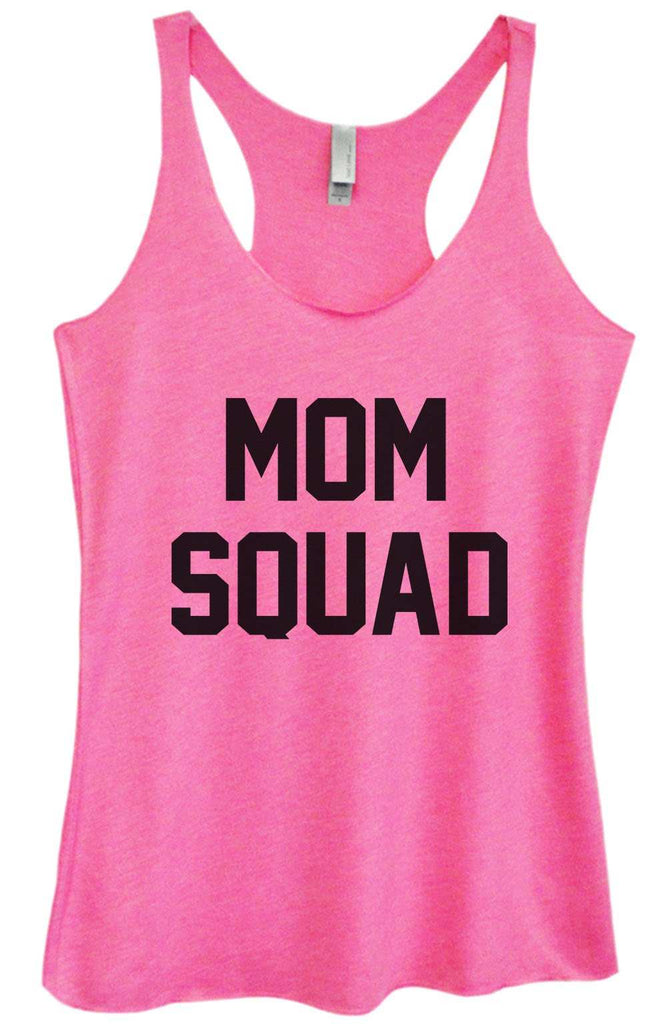 Womens Tri-Blend Tank Top - Mom Squad Funny Shirt Small / Vintage Pink