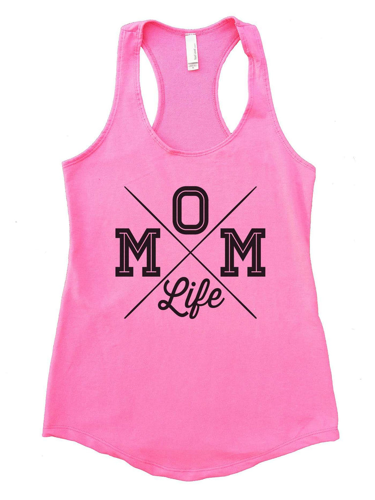 MOM Life Womens Workout Tank Top Funny Shirt Small / Heather Pink
