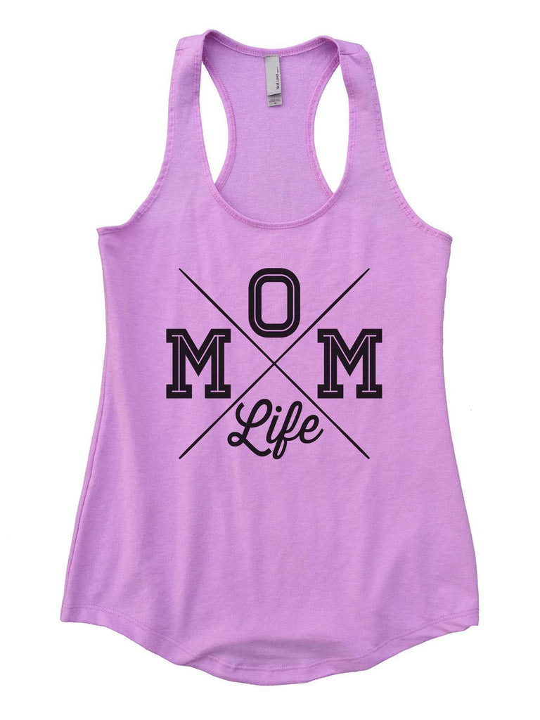 MOM Life Womens Workout Tank Top Funny Shirt Small / Lilac