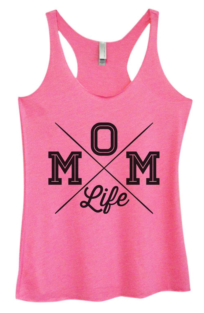 Womens Tri-Blend Tank Top - MOM Life Funny Shirt Small / Vintage Pink