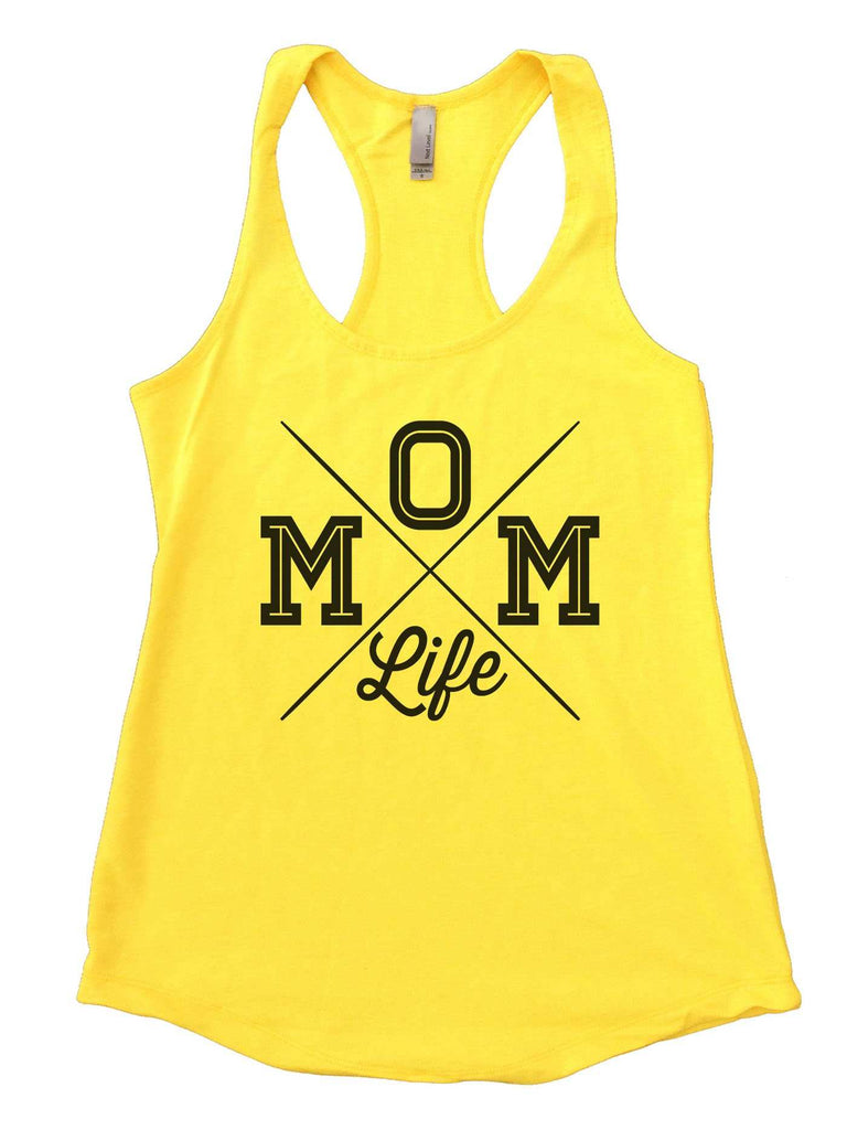 MOM Life Womens Workout Tank Top Funny Shirt Small / Yellow