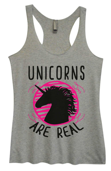 Womens Tri-Blend Tank Top - Unicorns are real Funny Shirt Small / Vintage Grey