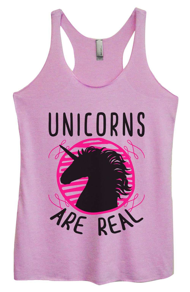 Womens Tri-Blend Tank Top - Unicorns are real Funny Shirt Small / Vintage Lilac