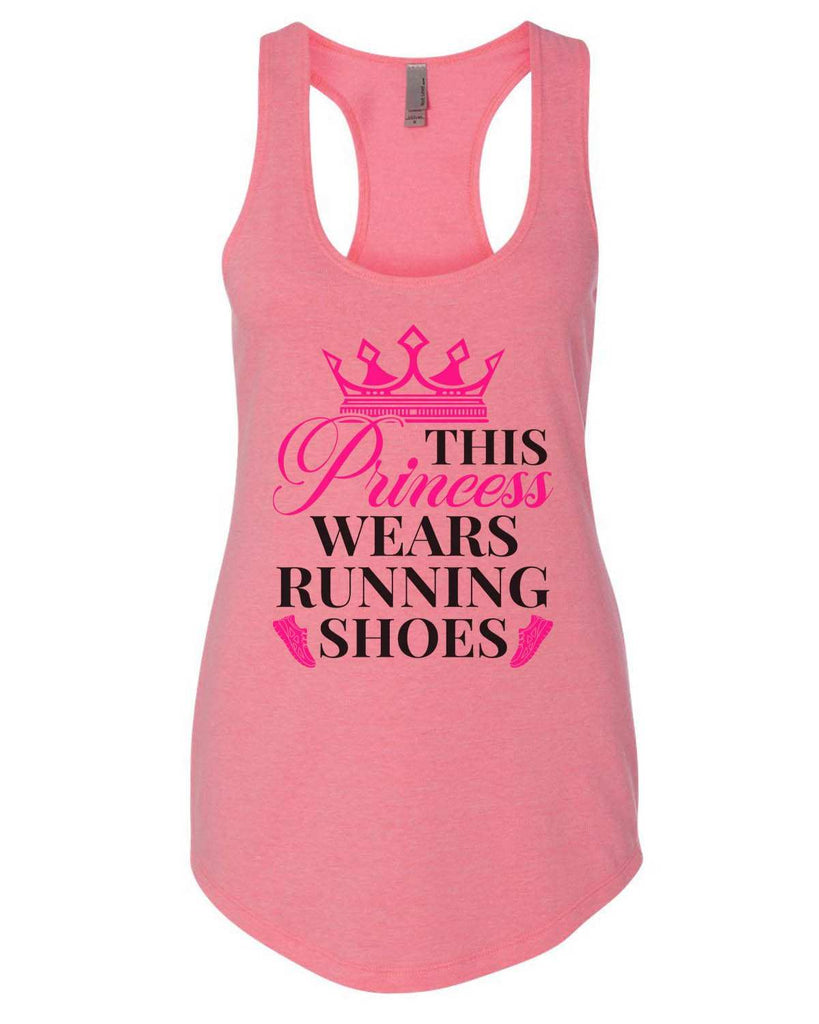 This Princess Wears Running Shoes Womens Workout Tank Top Funny Shirt Small / Heather Pink