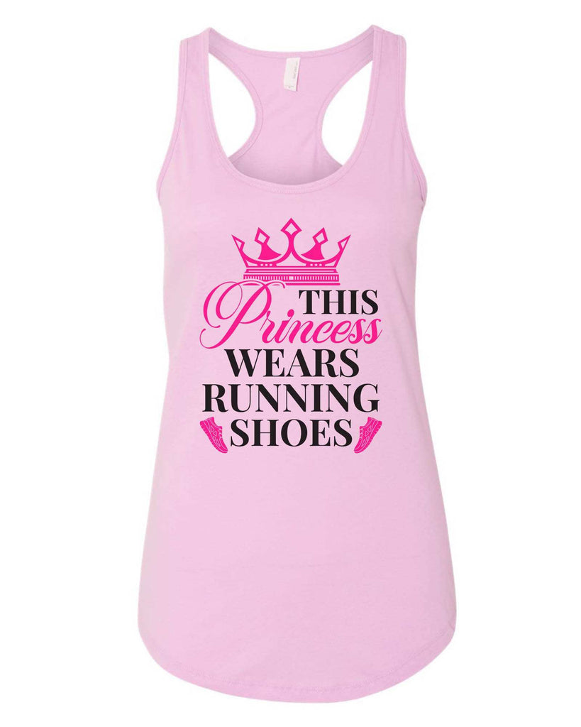 Womens This Princess Wears Running Shoes Grapahic Design Fitted Tank Top Funny Shirt Small / Lilac