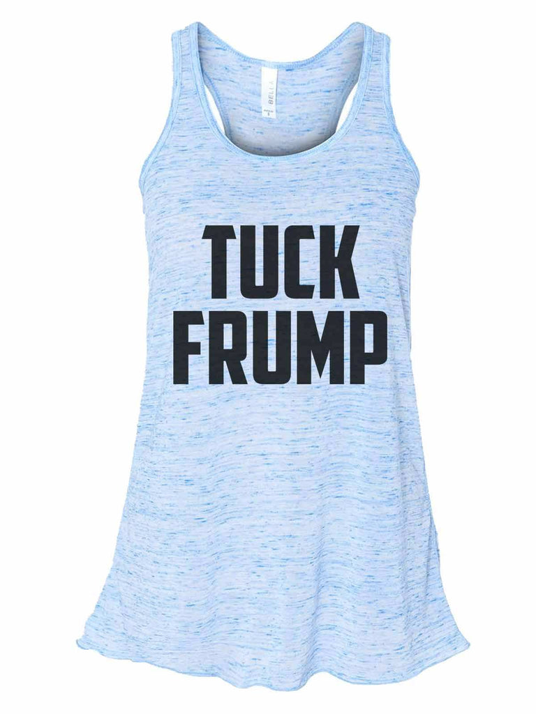 Tuck Frump - Bella Canvas Womens Tank Top - Gathered Back & Super Soft Funny Shirt Small / Blue Marble