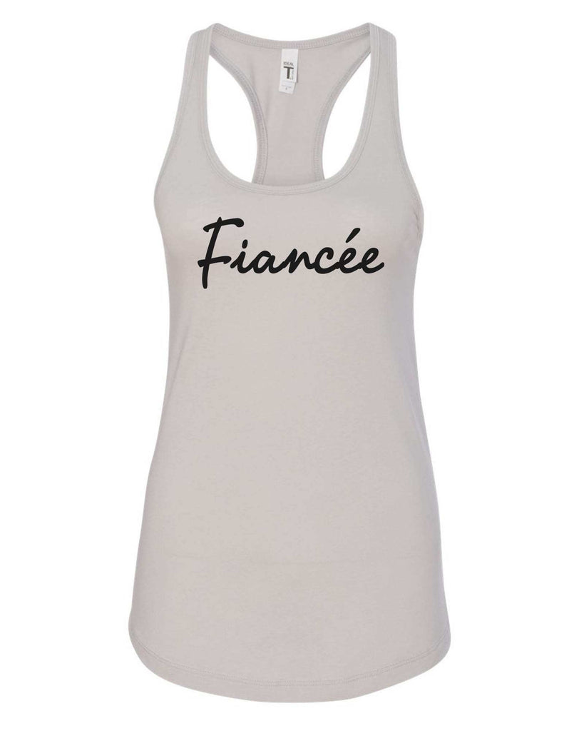 Womens Fiancee Grapahic Design Fitted Tank Top Funny Shirt Small / Silver