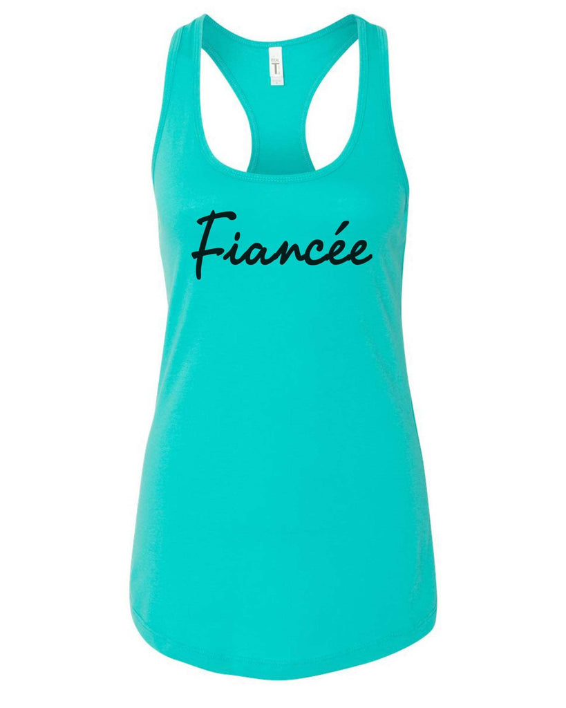 Womens Fiancee Grapahic Design Fitted Tank Top Funny Shirt Small / Sky Blue