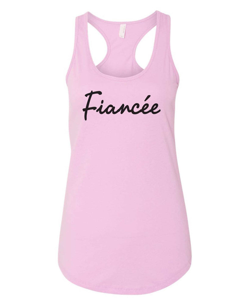 Womens Fiancee Grapahic Design Fitted Tank Top Funny Shirt Small / Lilac