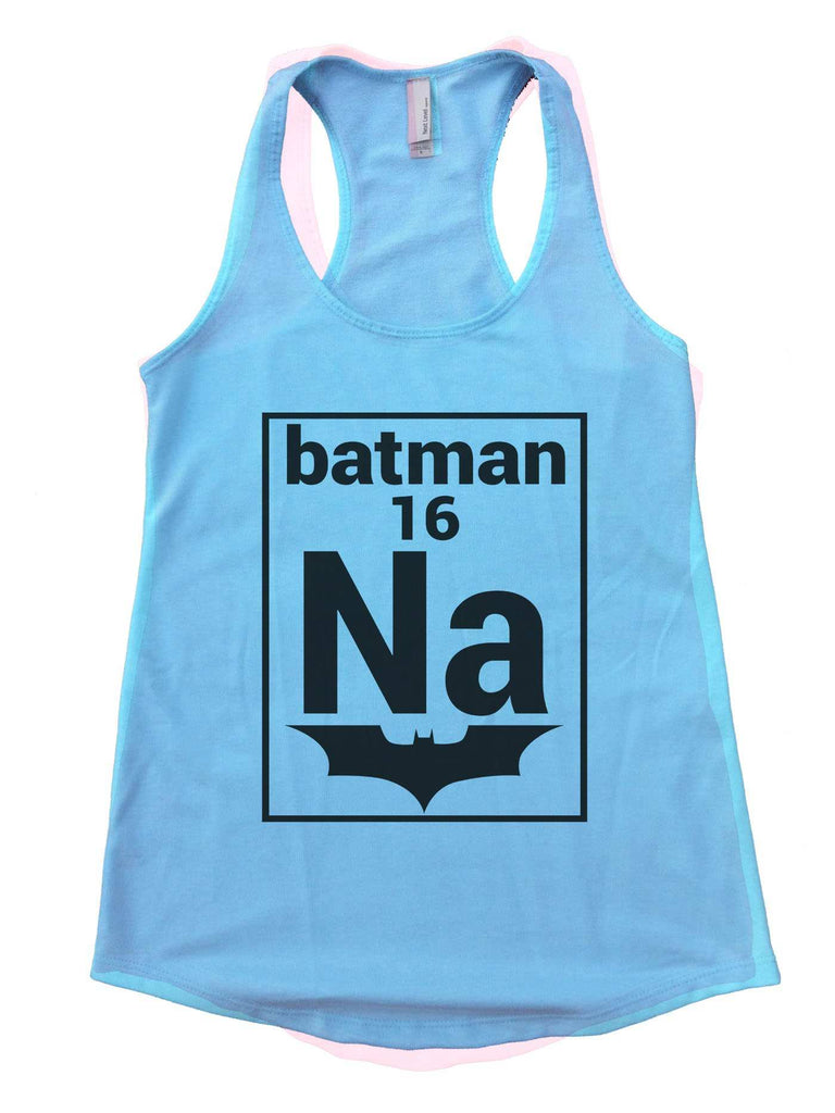 Na 16 Batman Womens Workout Tank Top Funny Shirt Small / Cancun Blue