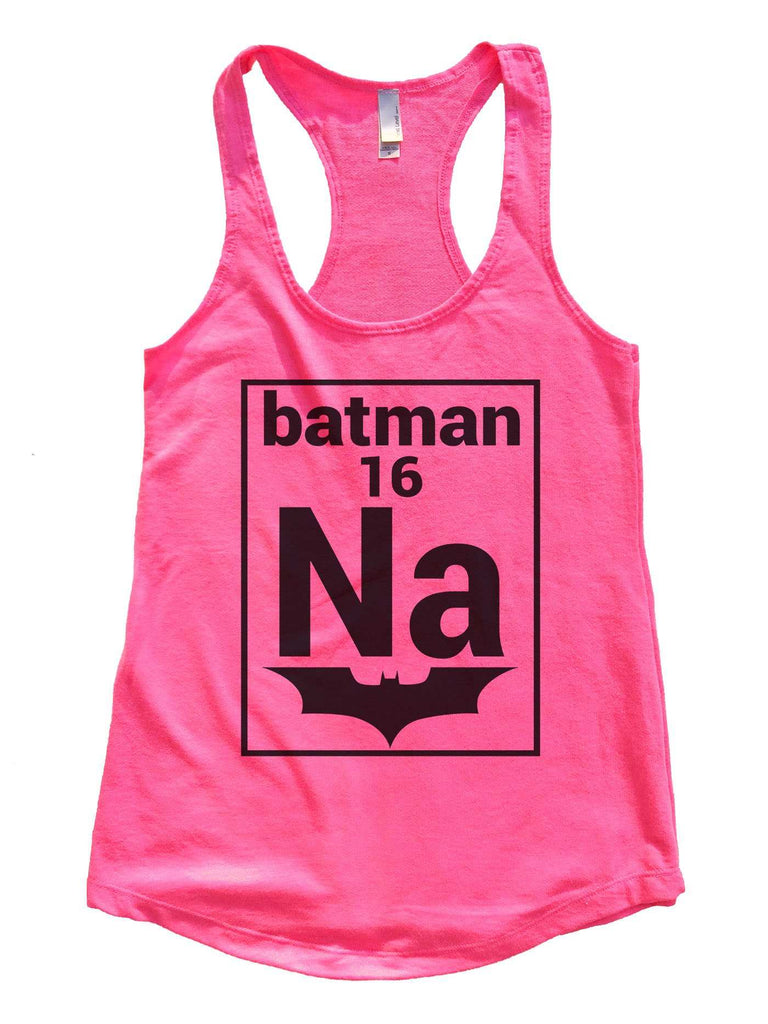 Na 16 Batman Womens Workout Tank Top Funny Shirt Small / Hot Pink