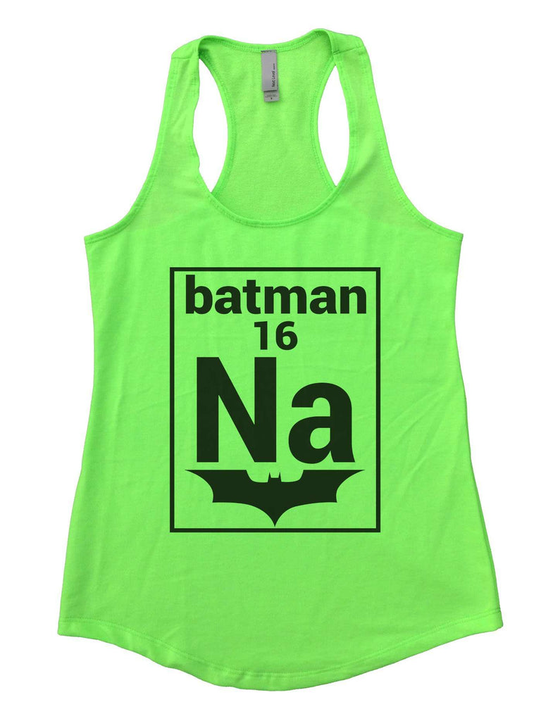 Na 16 Batman Womens Workout Tank Top Funny Shirt Small / Neon Green
