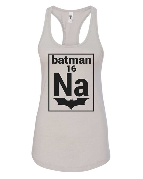 Womens Na 16 Batman Grapahic Design Fitted Tank Top Funny Shirt Small / Silver
