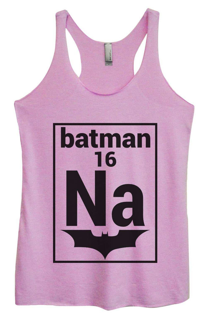 Womens Tri-Blend Tank Top - NA 16 Batman Funny Shirt Small / Vintage Lilac