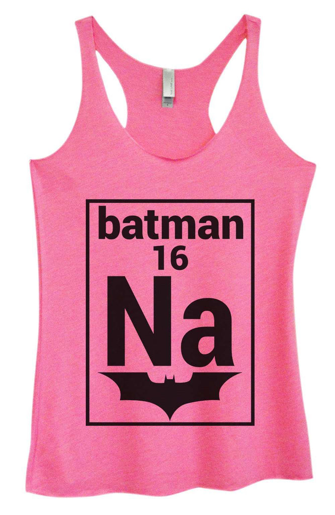 Womens Tri-Blend Tank Top - NA 16 Batman Funny Shirt Small / Vintage Pink
