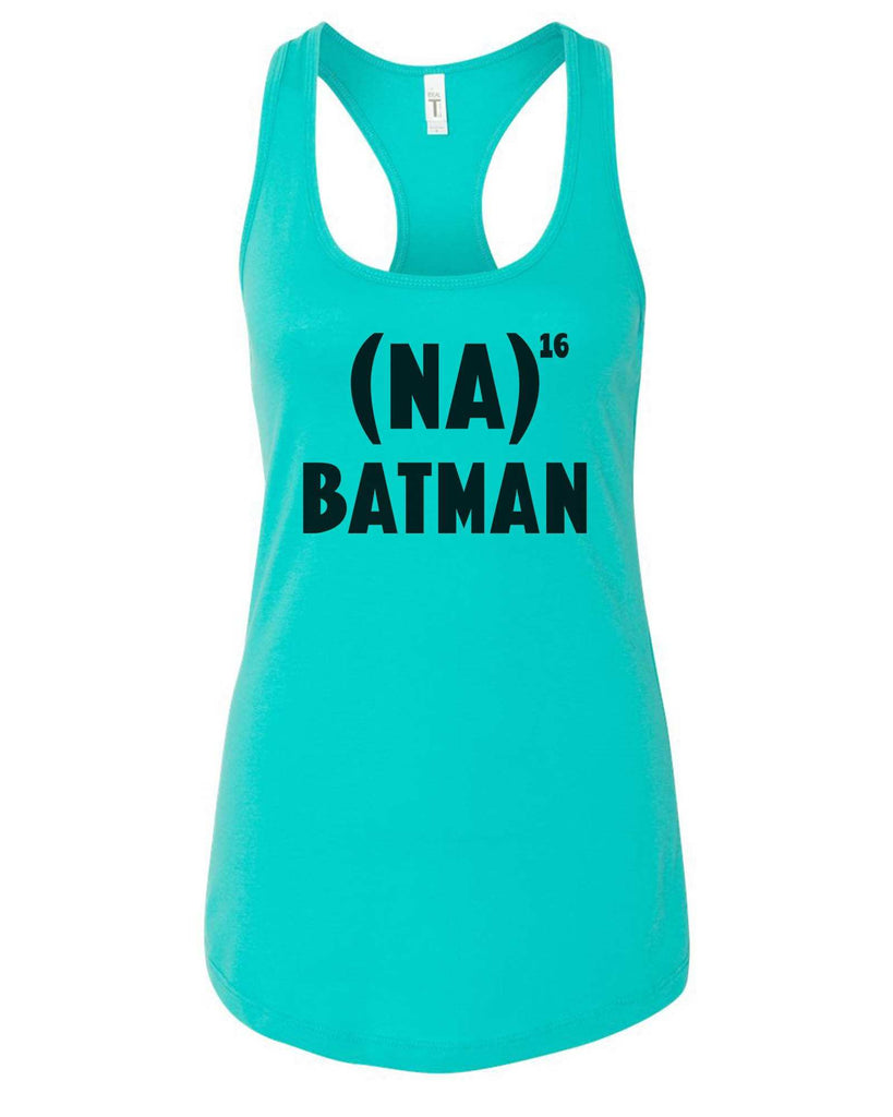 Womens Na 16 Batman Grapahic Design Fitted Tank Top Funny Shirt Small / Sky Blue