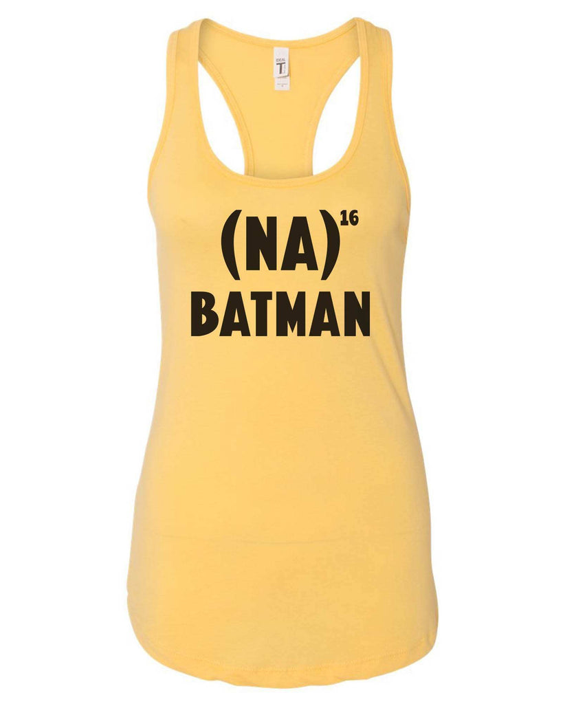 Womens Na 16 Batman Grapahic Design Fitted Tank Top Funny Shirt Small / Yellow