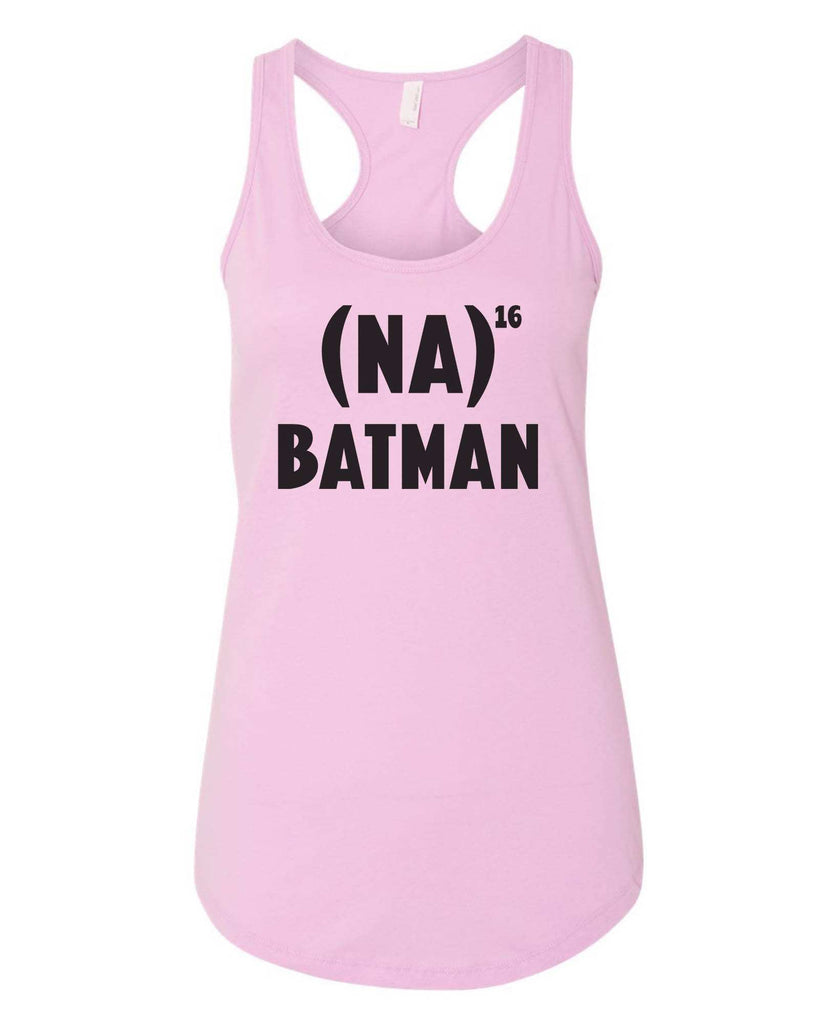 Womens Na 16 Batman Grapahic Design Fitted Tank Top Funny Shirt Small / Lilac