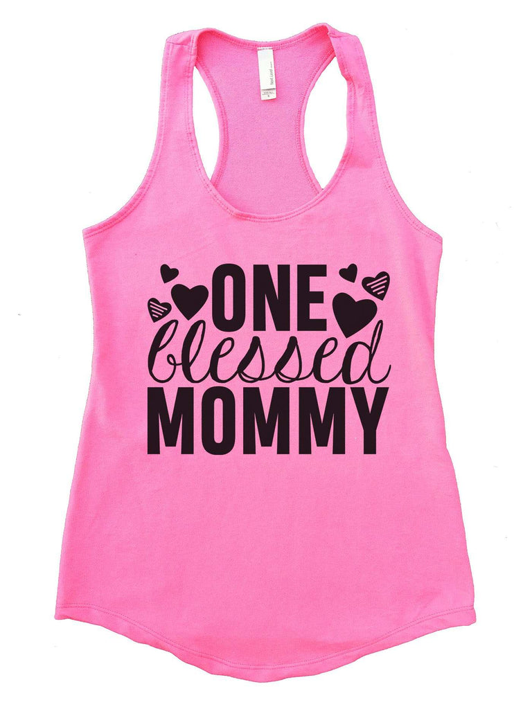 One Blessed Mommy Womens Workout Tank Top Funny Shirt Small / Heather Pink