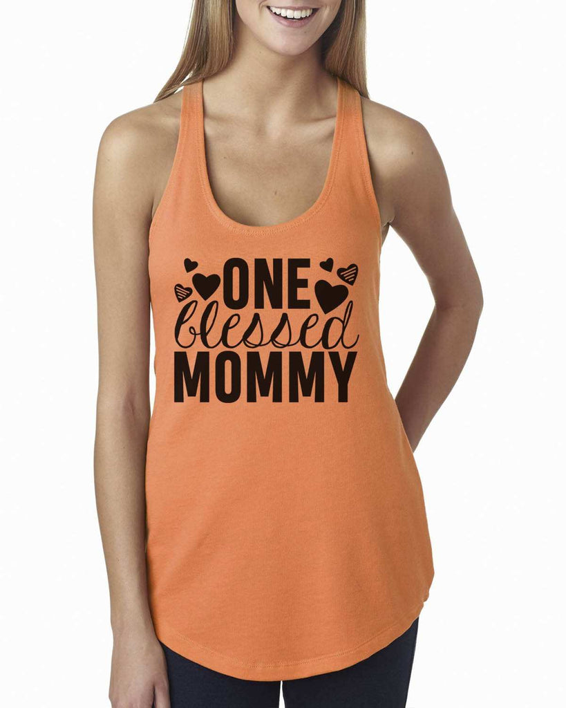 One Blessed Mommy Womens Workout Tank Top Funny Shirt