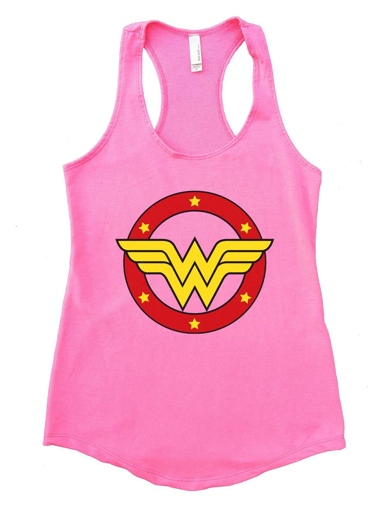 Wonder Woman Womens Workout Tank Top Funny Shirt Small / Heather Pink