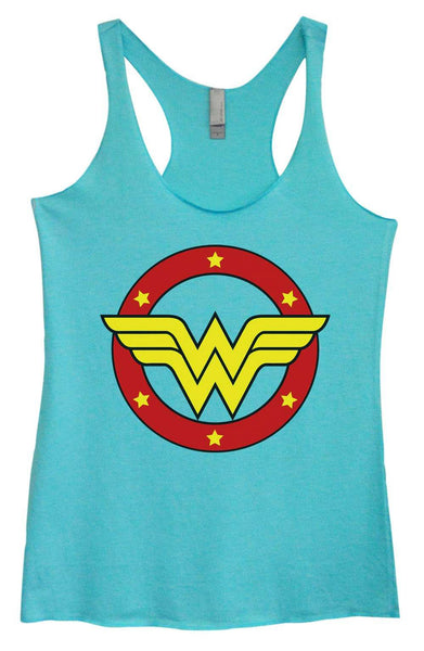 Womens Tri-Blend Tank Top - Wonder Woman Funny Shirt Small / Vintage Blue