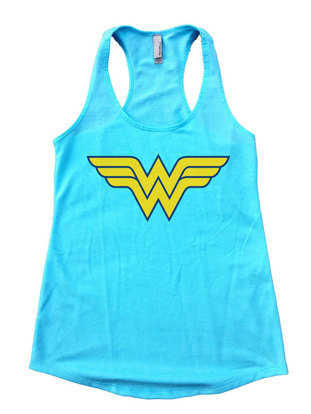 Wonder Woman Womens Workout Tank Top Funny Shirt Small / Cancun Blue