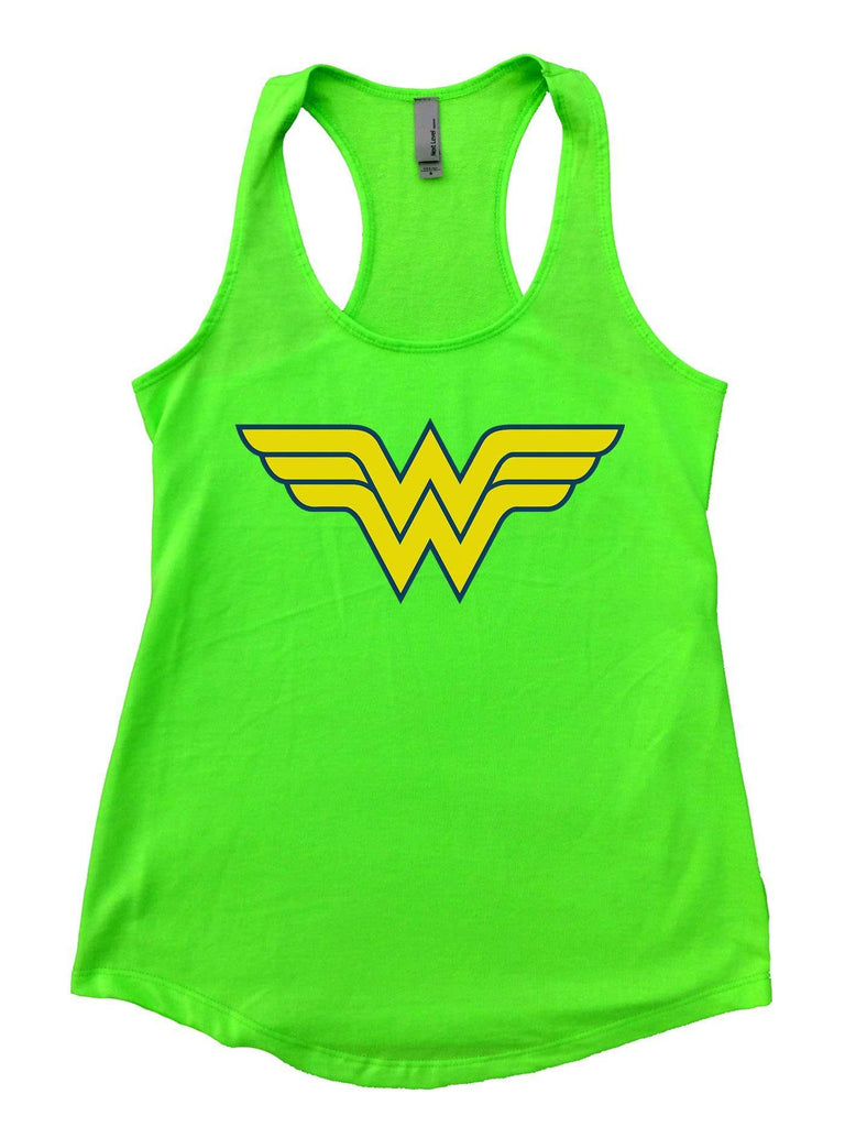 Wonder Woman Womens Workout Tank Top Funny Shirt Small / Neon Green