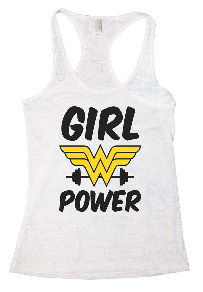 Girl Power Burnout Tank Top By Funny Threadz Funny Shirt Medium / Neon Green