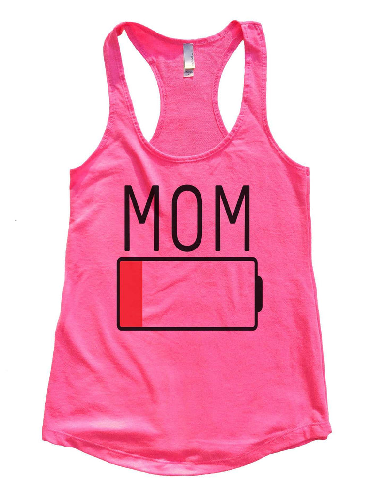Mom Womens Workout Tank Top Funny Shirt Small / Hot Pink