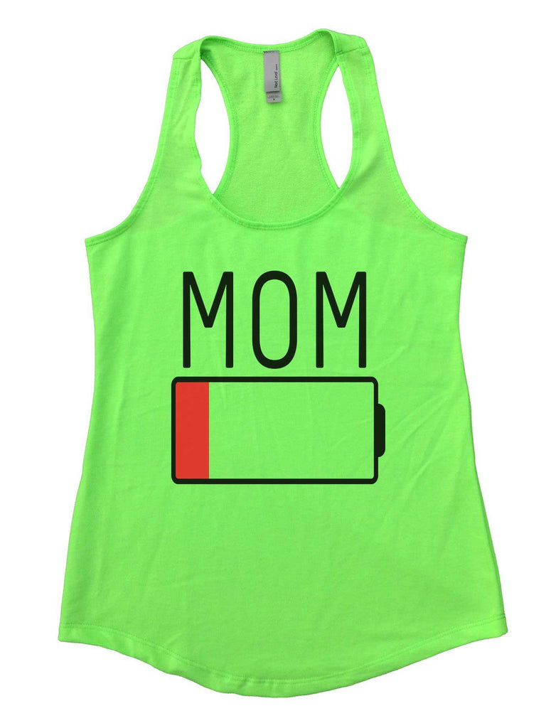 Mom Womens Workout Tank Top Funny Shirt Small / Neon Green