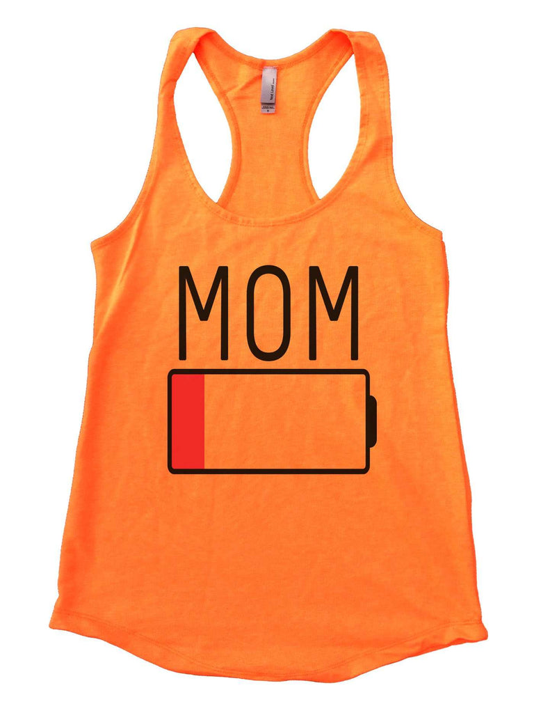 Mom Womens Workout Tank Top Funny Shirt Small / Neon Orange