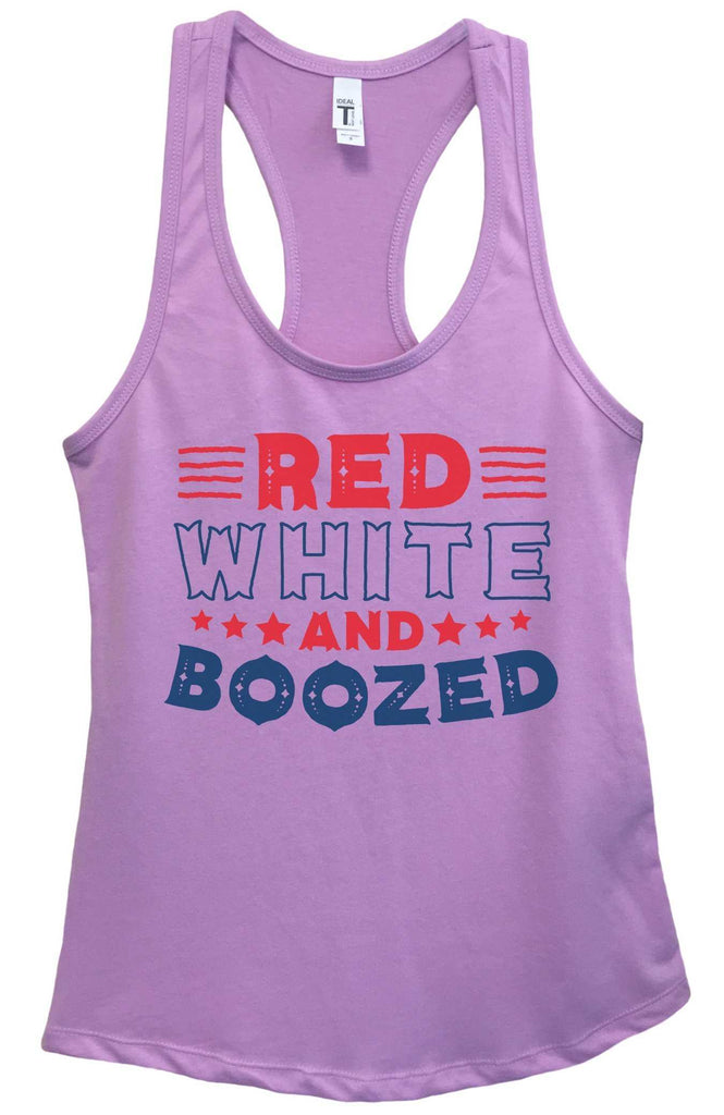 Womens Red White & Boozed Grapahic Design Fitted Tank Top Funny Shirt Small / Lavender
