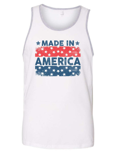 Made In America Mens Tank Top By Funny Threadz Funny Shirt Small / White