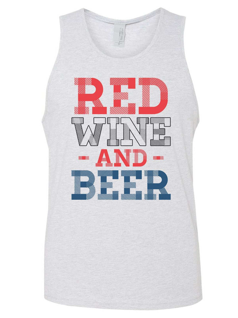 Red Wine And Beer Mens Tank Top By Funny Threadz Funny Shirt Small / Grey