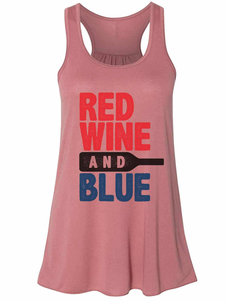Red White And Blue - Bella Canvas Womens Tank Top - Gathered Back & Super Soft Funny Shirt Small / Mauve