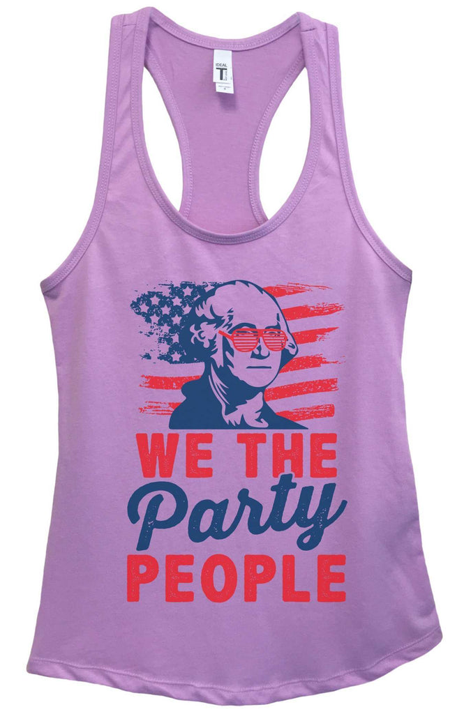 Womens We The Party People Grapahic Design Fitted Tank Top Funny Shirt Small / Lavender