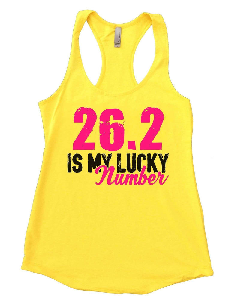26.2 Is My Lucky Number Womens Workout Tank Top - FunnyThreadz.com