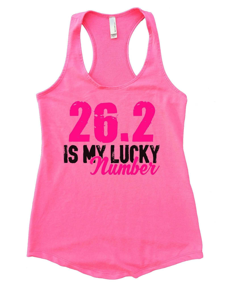 26.2 Is My Lucky Number Womens Workout Tank Top Funny Shirt Small / Heather Pink