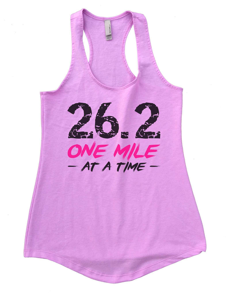 26.2 One Mile At A Time Womens Workout Tank Top Funny Shirt Small / Lilac
