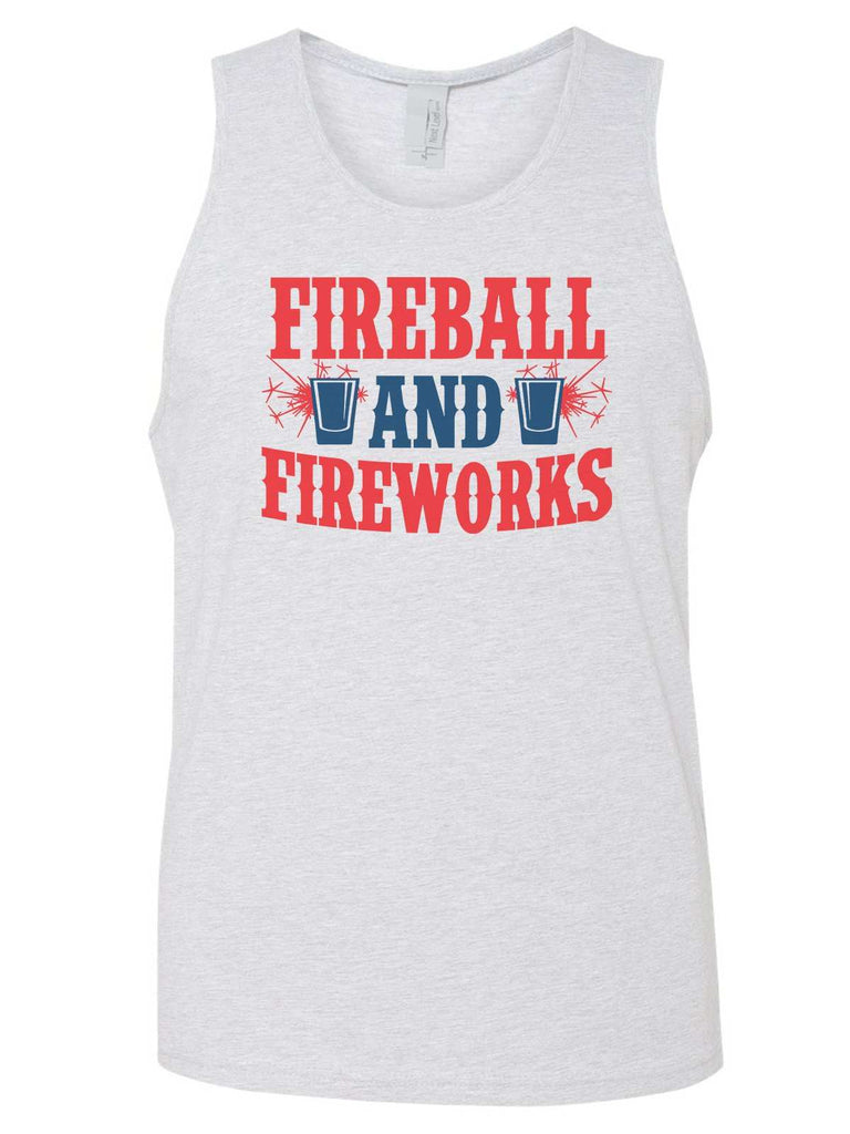 Fireball & Fireworks Mens Tank Top By Funny Threadz Funny Shirt Small / Grey