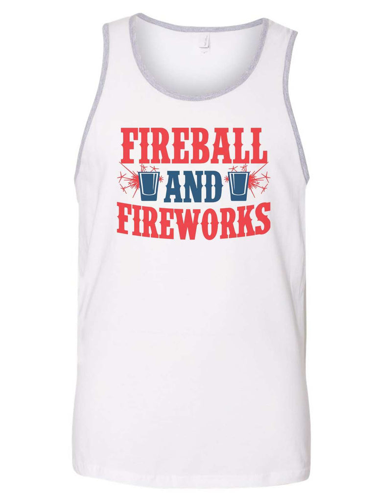 Fireball & Fireworks Mens Tank Top By Funny Threadz