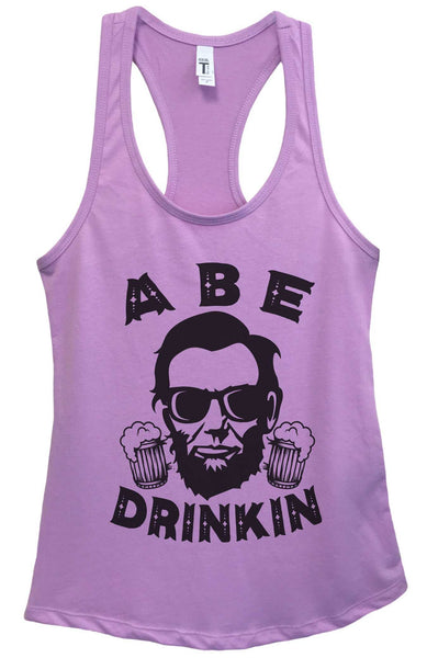 Womens Abe Drinkin Grapahic Design Fitted Tank Top Funny Shirt Small / Lavender