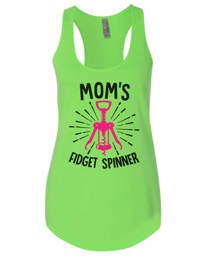 Mom'S Fidget Spinner Womens Workout Tank Top Funny Shirt Small / Neon Green