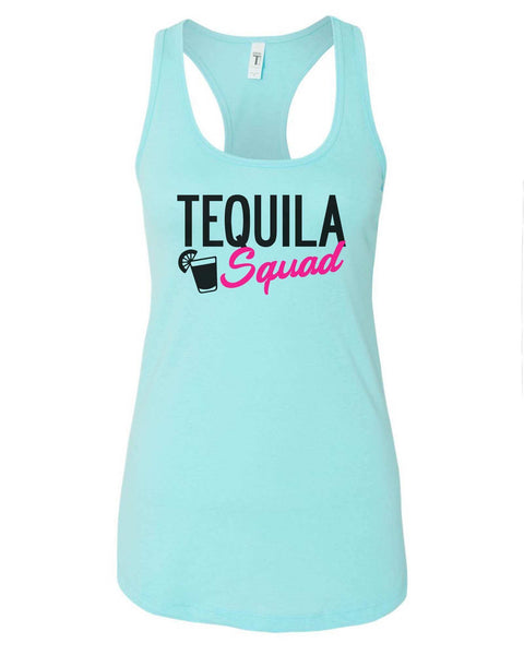 Womens Tequila Squad Grapahic Design Fitted Tank Top Funny Shirt Small / Cancun