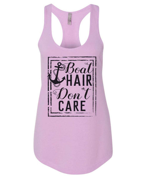 Boat Hair Don'T Care Womens Workout Tank Top Funny Shirt Small / Lilac