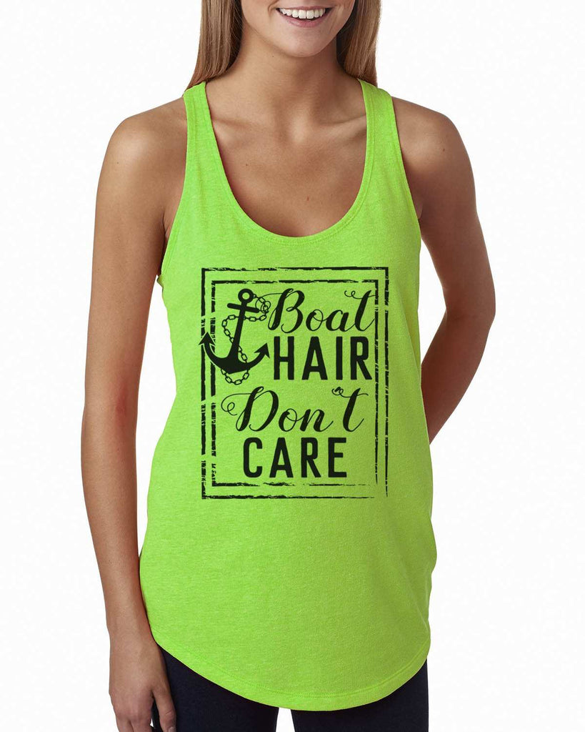 Boat Hair Don'T Care Womens Workout Tank Top Funny Shirt