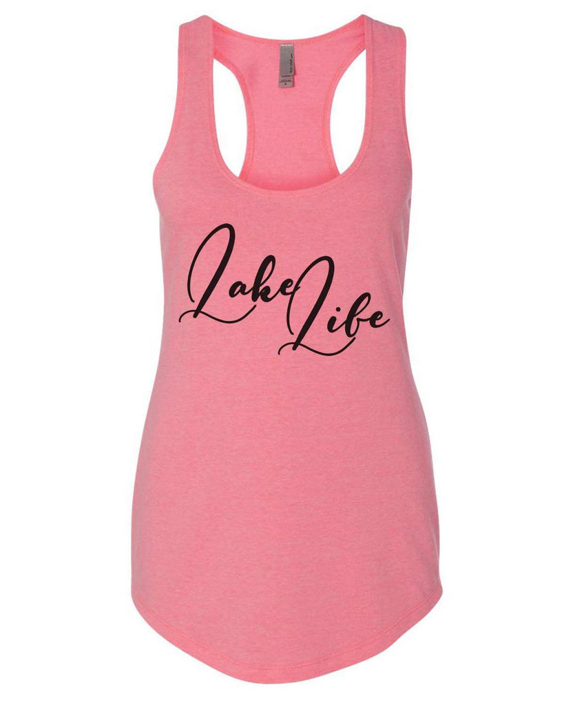 Lake Life Womens Workout Tank Top Funny Shirt Small / Heather Pink